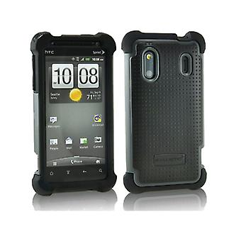 Etui Gel balistique Soft Shell pour HTC Evo Design 4G - noir/gris