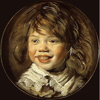 Laughing Child, Frans Hals, 50x50cm