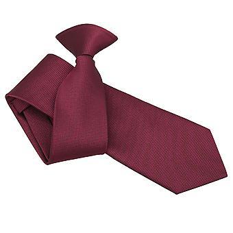 Bourgondische solide selectievakje Clip op slanke Tie