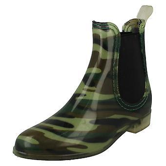 Womens posto sulla caviglia stivali da pioggia