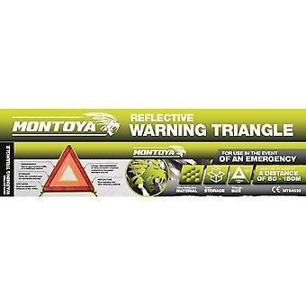 Montoya Car Safety Reflective Emergency Breakdown Warning Triangle Hazard Sign