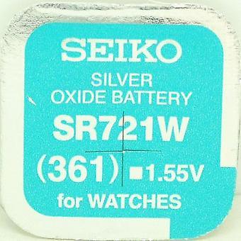Seiko 361 (sr721w) 1.55v zilver Oxide (0% hg) kwik gratis horloge batterij - Made In Japan