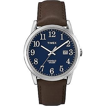 Timex TW2P75900 Armbanduhr, Herren analogen Zifferblatt, schwarzes Lederband, Silber/braun