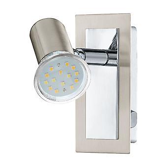 Eglo - Nickel satinato Rottelo & cromata a muro regolabile LED luce montaggio EG90914