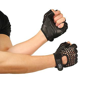 Fitness Mad Mesh Fitness Gloves in Black