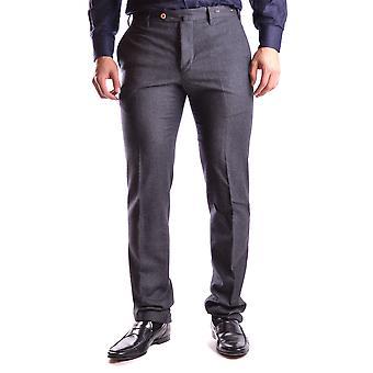 Pt01 Ezbc084010 Men's Grey Wool Pants