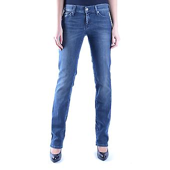 7 For All Mankind Ezbc110016 Dames's Blue Cotton Jeans