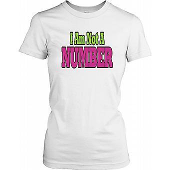 Ich bin keine Nummer - Verschwörung-Damen-T-Shirt