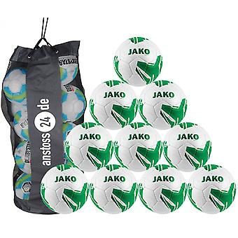 10 x JAKO כדור הנוער החלוץ 2.0 HS כולל שק כדור