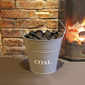 a'la Maison Fireside Fireplace Steel Coal Bucket  Dimensions  W30  D33  H30CM