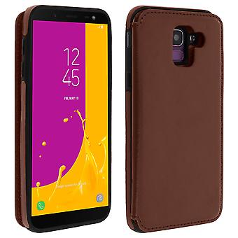 Samsung Galaxy J6 Shockproof Case, Card Holder Wallet, Forcell, Brown