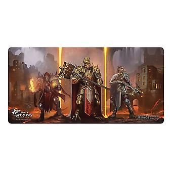 Requin blanc TMP-112 1375x675mm Phageborn Gaming Mousepad noir/orange DRAKKORITH