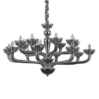 Perfekt Lux-Casanova Smokey glas sexton ljus ljus krona IDL095639