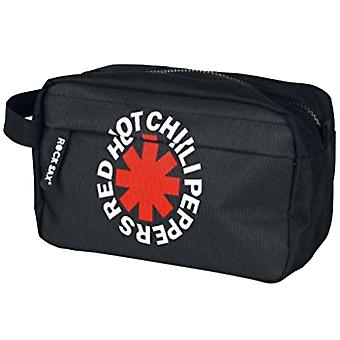 Red Hot Chili Peppers Wash Bag Asterix Band Logo new Official Black