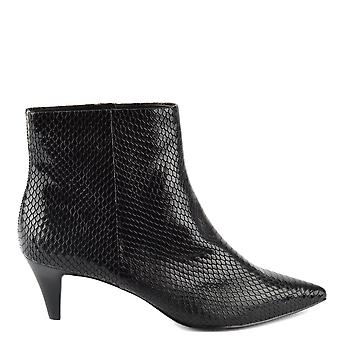 Ash CAMERON Boots Black Snake Embossed Leather