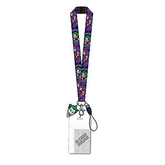 Lanyard - DC Comics - The Joker Purple w/ ID Holder New 45306
