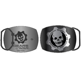 Belt Buckle - Gear Of War - New Silver Skull Logo Metal Anime bb1884gow