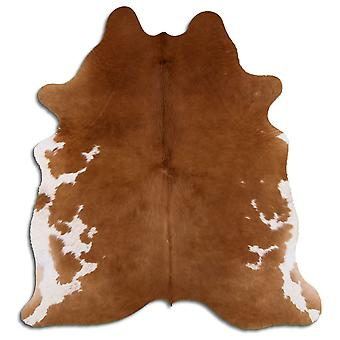 Aito lehmän nahka 1210 ruskea ja valkoinen 2-3 M Grade A