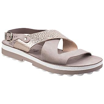 Fantasy Womens Artemis Buckle Up Sandal Coffee/Rose Gold