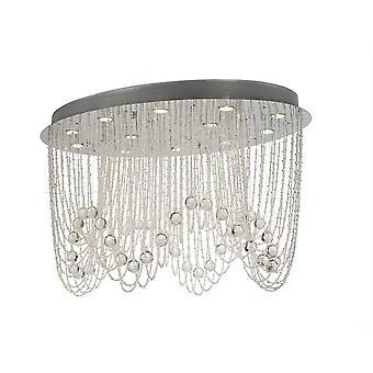 Diyas Camilla Plafond ovale 12 Light Polished Chrome / Cristal