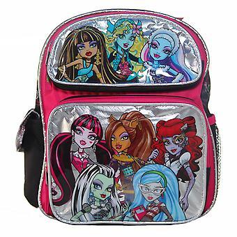 Small Backpack - Monster High - 8 Girls Silver School Bag New 80055