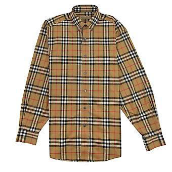 Burberry Jameson Langarm Shirt Antik gelb