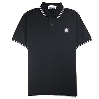 Stone Island Twin Tipped Short Sleeve Polo Shirt 'Regular Fit' Black