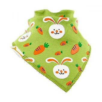Green rabbit bandana bib