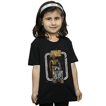 Star Wars Girls R2-D2 e C-3PO Vintage T-Shirt