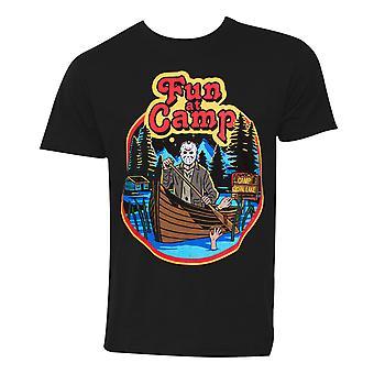 Friday The 13th Fun At Camp Men's Black T-Shirt