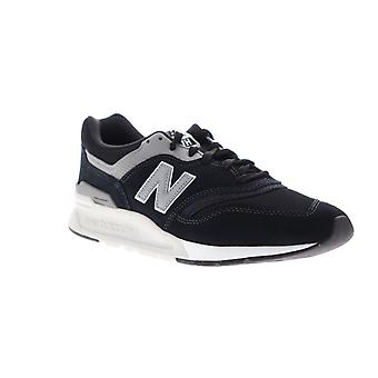 New Balance 997H Homme Black Suede Low Top Lace Up Sneakers Chaussures