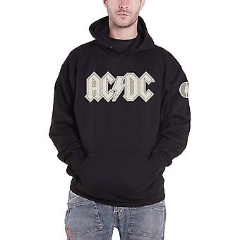 AC/DC Hoodie Band Logo Applique Angus patch Official Mens Black Pullover Black