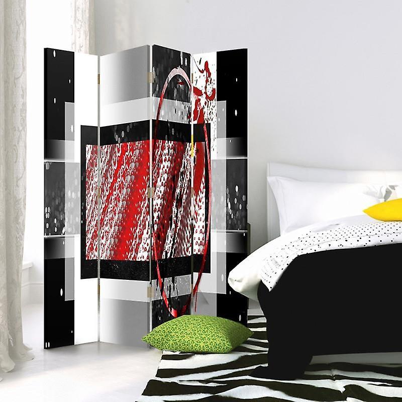 Diviseur de chambre, 4 panneaux, toile, composition abstraite 1