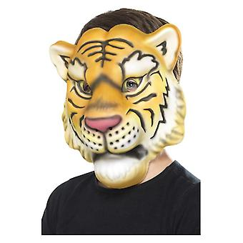 Childrens Tiger Face Mask  Fancy Dress Accessory
