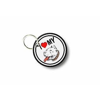 Porte Cle Cles Clef Brode Patch Ecusson I Love My Pitbull Sac R2