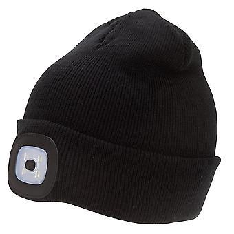Rock Jock Unisex Adults Rechargeable LED Light Beanie Hat