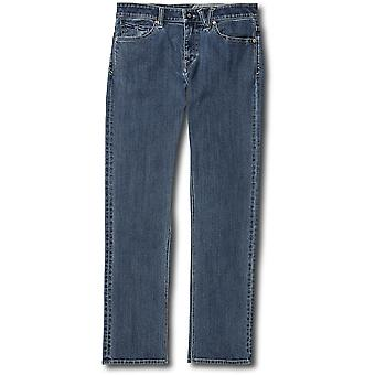 Volcom Solver Straight Fit Jeans in Easy Enzyme Medium