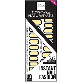 ncLA Los Angeles Instant Nail Fashion Designer Nail Wraps - Lemonade In The Sun Room (26 Wraps)