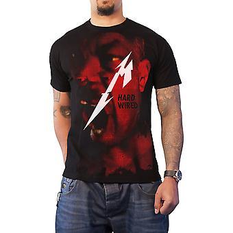 Metallica T Shirt Hardwired Jumbo Album cover bandlogo officiële Mens Black