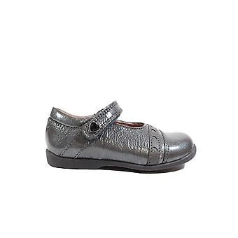 Startrite Tiffany Gunmetal Grey Patent Leather Girls Mary Jane Shoes