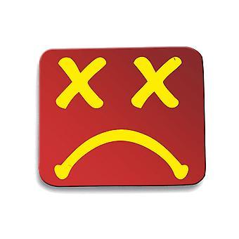Red mouse pad pad dec0282 sad smiley
