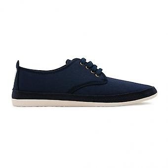 Flossy Yago mens canvas Lace up Plimsolls Navy