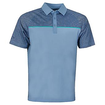 Callaway Mens Golf 2019 Houndstooth Chest Print Polo Shirt