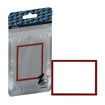 Zedlabz replacement screen lens plastic cover for nintendo ds lite [ndsl] - red