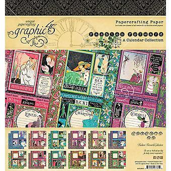 "Graphic 45 Double-Face Paper Pad 8""X8» 24/Pkg - Fashion Forward"