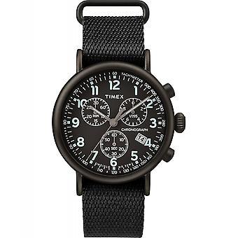 Timex TW2T21200 Standardowy chronograf Tkanina zegarek czarny