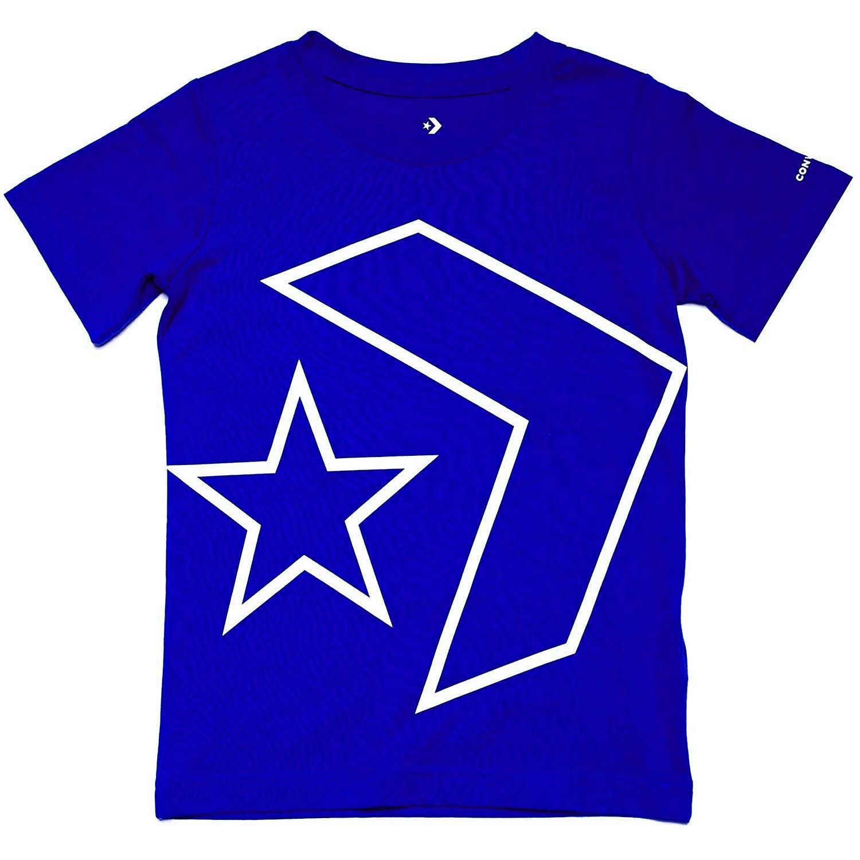 Converse All Star Chevron Junior Kids T-Shirt Shirt Tee Royal Blue