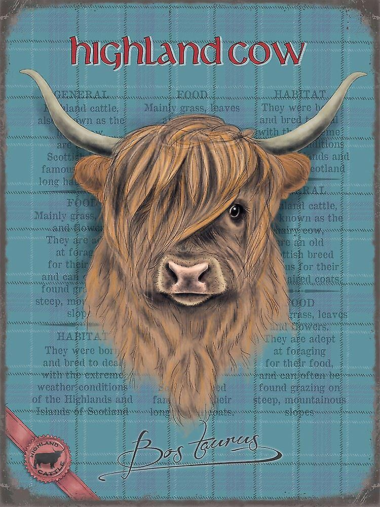 Medium Wall Plaque 200mm x 150mm - Highland Cow