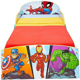 Marvel Superhero Wood Bed with Glove Containers