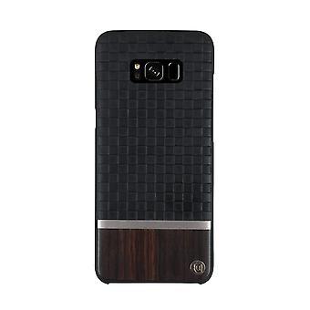 Black/Brown Genuine Wood Samsung Galaxy S8 Case
